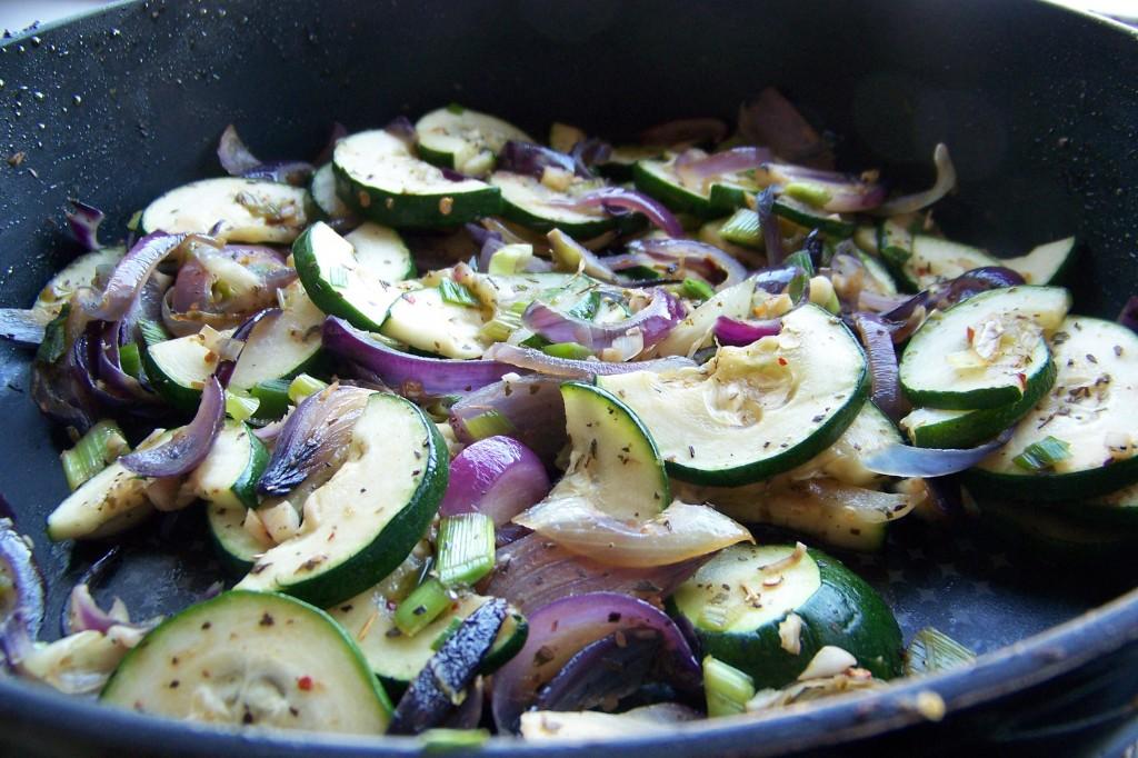 dušená zelenina ve Woku