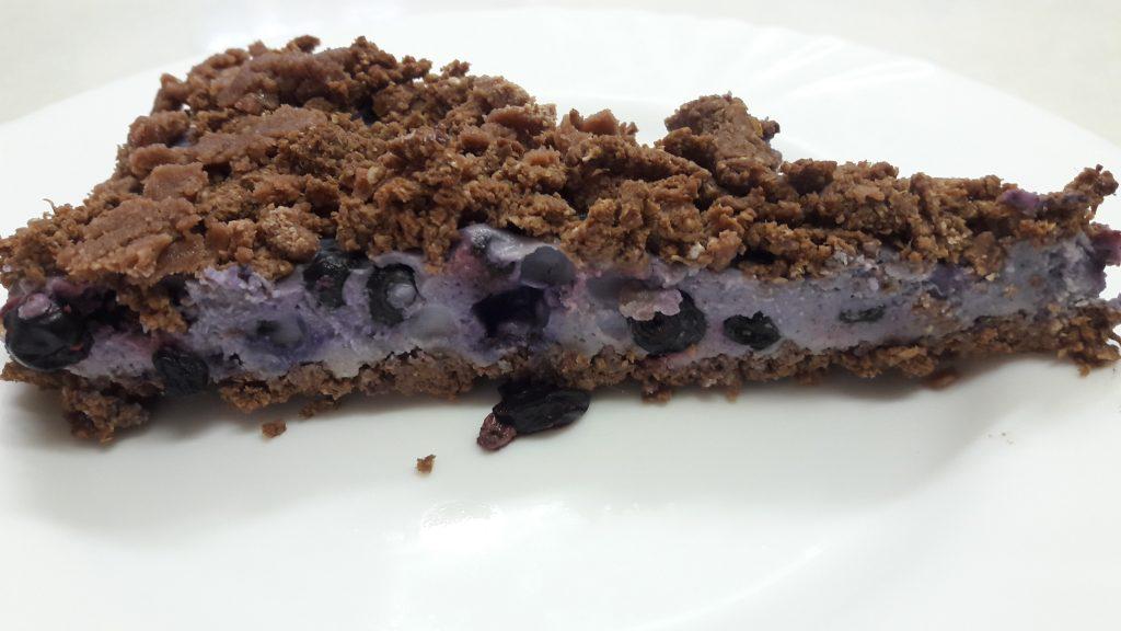 kokosovo-borůvkový dort